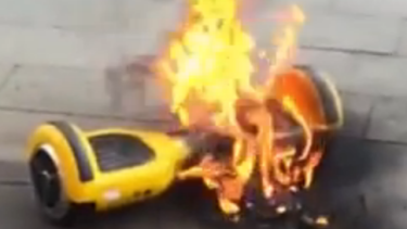 Hot wheels: a hoverboard fire.