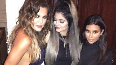 Maybe they were born with it? Or not: Khloe, Kylie and Kim.