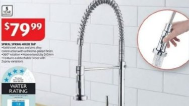 Consumers who have purchased the particular taps but have not had them installed can seek a refund from Aldi.