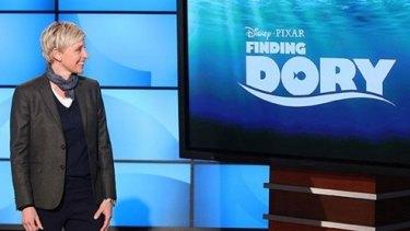 Ellen DeGeneres announcing the <i>Finding Nemo</i> sequel.
