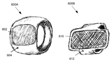 Two different depictions of what a touch-screen 'iRing' might look like.