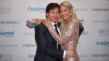 Popular plastic surgeon Dr Tass Tasiopoulos with Brynne Edelsten.