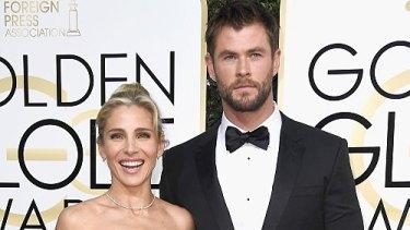 Elsa Pataky and husband Chris Hemsworth  at this year's Golden Globe Awards.