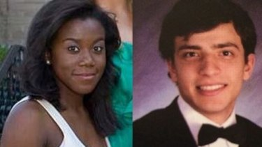 Jaelyn Delshaun Young, 20, a former high school honour student, and Muhammad Oda Dakhlalla, in their yearbook photos.