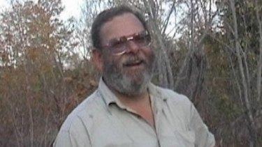 Murdered Balga man Greg Gibbard in the bush in Zimbabwe.
