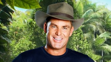Shane Warne in a promotional shot for <i>I'm a Celebrity ... Get Me out of Here.</i>