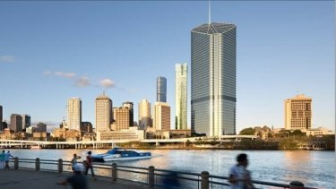 The tower proposed for 30 Albert St, Brisbane.