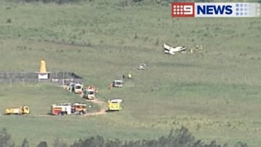 A light plane has crashed on the Gold Coast.
