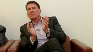 Senator Cory Bernardi is on his way out of the Coalition party room.