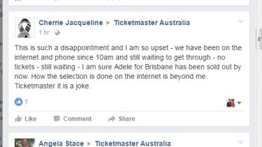 Adele fans flooded the Ticketmaster and Ticketek websites.