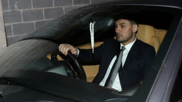 Auburn deputy mayor Salim Mehajer arrives at a council meeting in August.
