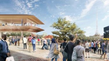 The Apple shop proposed for Federation Square.