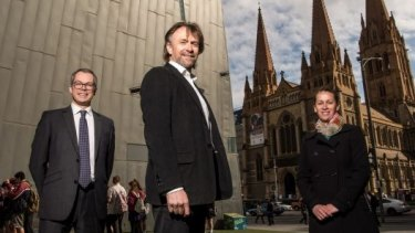 Whoops! Nic Frances Gilley (centre) was planning on running for lord mayor, but made a mistake on his forms.
