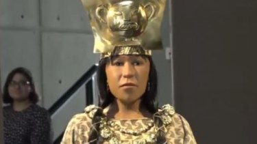 The face of Lady of Cao was revealed on Tuesday.