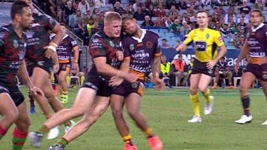 George Burgess faces a lengthy ban for this alleged shoulder charge.