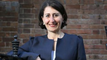 The NSW Treasurer Gladys Berejiklian, who will stand for premier on Monday.