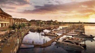 Artist's impression of the Great Keppel Island resort development.