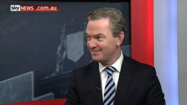 Education Minister Christopher Pyne during Monday afternoon's interview.