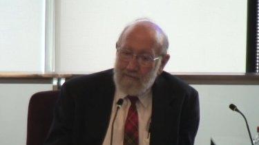 Former St Paul's headmaster Gilbert Case speaks to the Royal Commission.