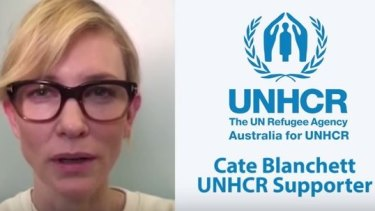 Cate Blanchett has urged Australians to donate to the UNHCR.