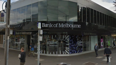 The Bank of Melbourne branch in South Melbourne where the first withdrawal took place.