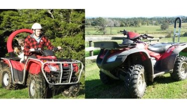 Examples of roll-over bars fitted to quad bikes.