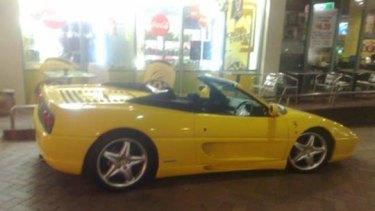 Toni Celona's Ferrari.