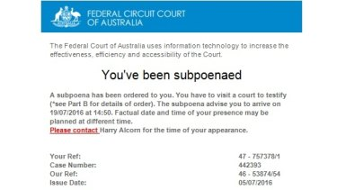 Real or fake? An email from the Federal Circuit Court of Australia.