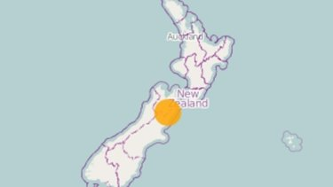 The earthquake hit central New Zealand, rattling Christchurch.