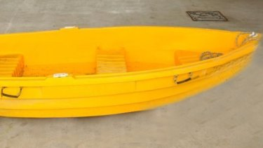 Mr Mitchell use this dinghy to row to shore.