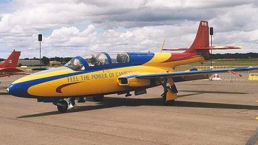 """This """"Feel the Power"""" jet was used in a campaign to promote Canberra under former ACT chief minister Kate Carnell's government in 1998."""