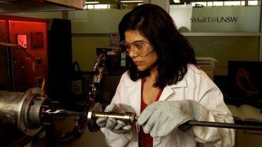 Australian Research Council laureate fellow Professor Veena Sahajwalla  remains in the minority as a woman in science.