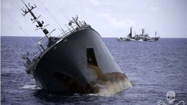 Forty people were rescued from the vessel.