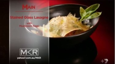 The lasagne: made of glass and Christianity.