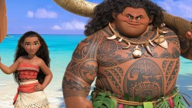 Newcomer Auli'i Cravalho voices Moana, and Dwayne 'The Rock' Johnson voices Maui in the new Disney film.