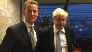 Gregory Barker in 2015 with the now Foreign Secretary Boris Johnson.