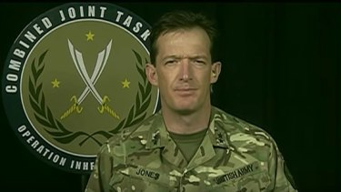 Major General Rupert Jones is a spokesman for the Global Coalition fighting Islamic State.