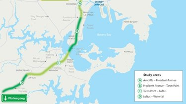 The F6 corridor study area map.