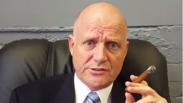 David Leyonhjelm says he will fight tobacco taxes in the video.