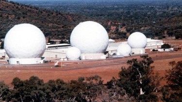 The joint US-Australian base at Pine Gap near Alice Springs.