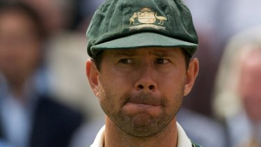 Ricky Ponting at Lord's in 2009, an Ashes series that saw him savaged by the English fans.