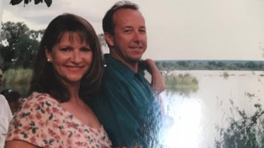 Greg Wilkinson pictured with his wife.