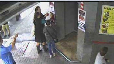 The Grosvenor Hotel's CCTV system captured the vandals in the act.