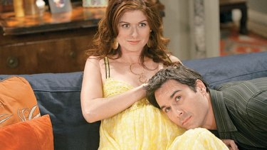 Debra Messing as Grace Adler, and Eric McCormack as Will Truman: together again.