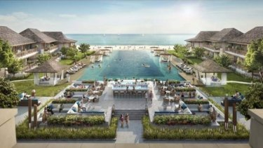 The resort planned for Great Keppel Island.