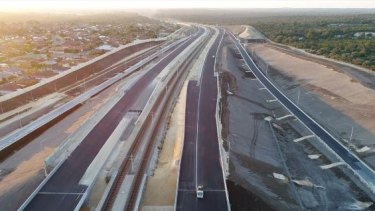 The Mitchell Freeway extension north of Perth.