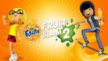 """The Fanta ad and app featured an animated cast of high school characters called """"the Fanta crew""""."""