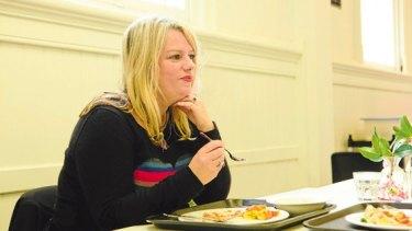 Soul food: Rebecca Barnard has lunch in St Kilda.