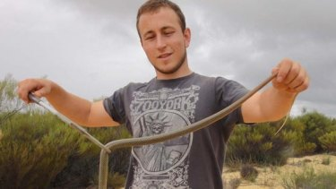 Perth snake catcher Marcus Cosentino.