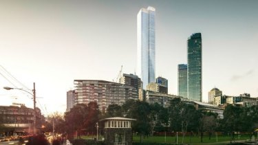 The 82-level tower rejected for 555 Collins Street, pictured in an artists impression.